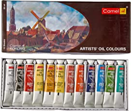 Camlin Kokuyo Artist's Oil Color Box - 20ml tubes, 12 Shades
