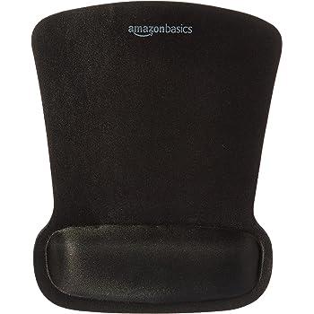 AmazonBasics Gel Mouse Pad with Wrist Rest (Black)
