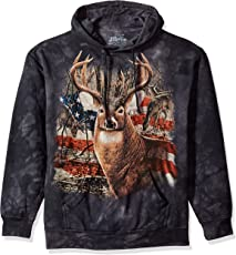 The Mountain Men's Patriotic Buck Hooded Sweatshirt