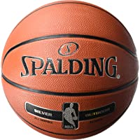 Spalding NBA Silver Outdoor, Palla da Pallacanestro, (83–569z), Arancione, Misura 6,0