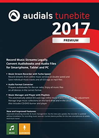 Audials Tunebite 2017 Premium - Save Music from Paid Services and Websites Easily [Download]