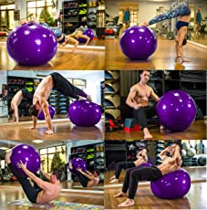 Density Collection 75cm Yoga Fitness Pilates Ball, Stability Base, Resistance Bands, Workout Poster and Pump for Men and Women (Yoga Ball)