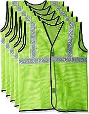 Safari Pro 2' Inch Reflective Safety Jacket, Green, Mesh Type, Set of 5