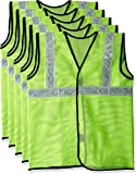 Source India Safari Pro 2' Inch Reflective Safety Jacket, Green, Mesh Type, Set of 5