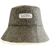 DIYer - Saunahut - inkl. Sauna eBook - Aufschrift Sauna - 100% Baumwolle - Filz Saunamütze