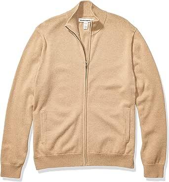 Amazon Essentials Men's Cotton Full-Zip Sweater