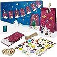 Adventskalender zum Befüllen: Schöner 2021 Adventskalender zum Selbstbefüllen mit 24 dekorativen Tüten und Zahlen Aufkleber –