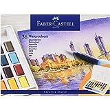 Faber-Castell 169736 akvarellfärger, 36 stycken i krukor, inklusive vattentankpensel