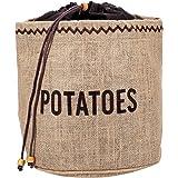 KitchenCraft Natural Elements Sacco per Patate con Fodera di Iuta Oscurante, 25 cm x 25 cm x 24 cm - Marrone