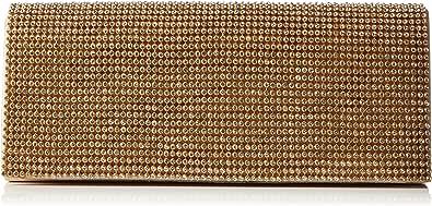 Berydale Damen Satin Handtasche mit Strassbezug, Clutch Schultertasche mit Zusatzkette und Magnetverschluss