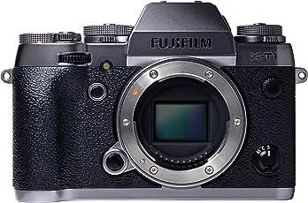 Fujifilm X-T1 Systemkamera (16 Megapixel APS-C X-Trans CMOS II Sensor, Klappbares 7,6 cm (3 Zoll) LCD-Display, WiFi, spritzwasser- und staubgeschützt) nur Gehäuse graphit/silber