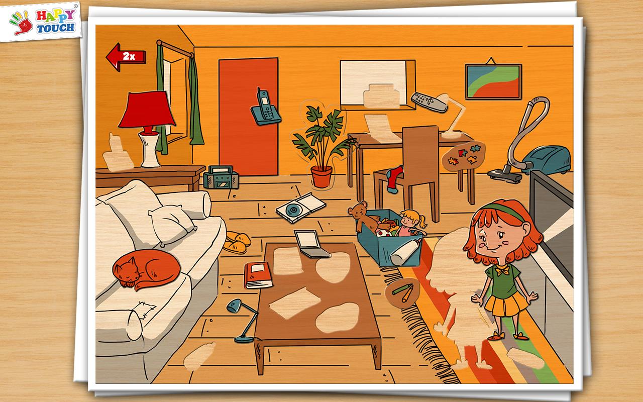 Aufraumen Mit Anne Holz Puzzle Kinderpuzzle Von Happy Touch
