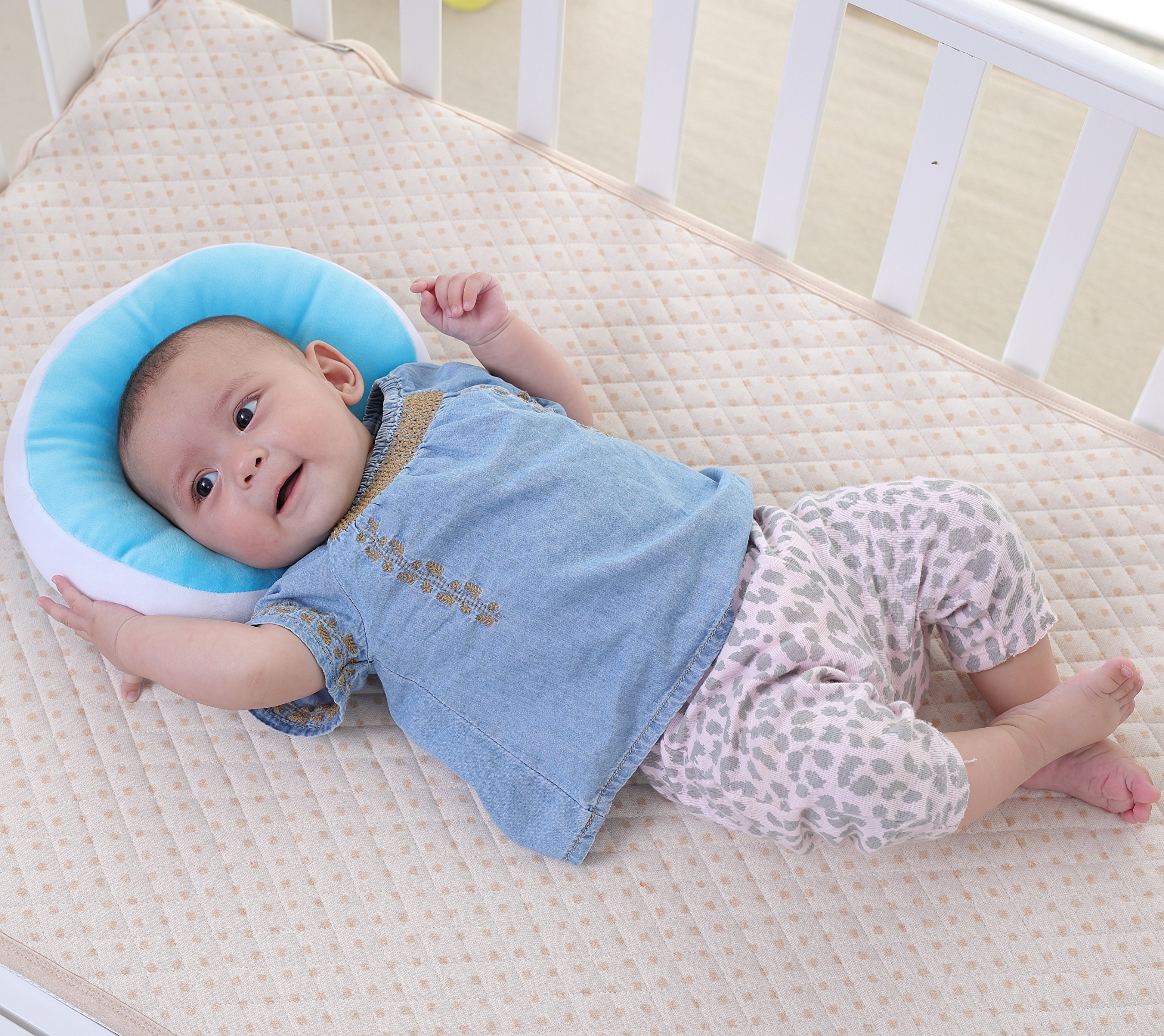 Quality Kakiblin Baby Pillow Anti Flat Head Syndrome Ultra Soft