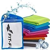 Fit-Flip Asciugamano rinfrescante Perfetto Come Asciugamano in Microfibra per Lo Sport o Asciugamano refrigerante…