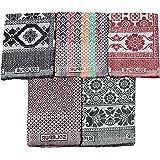Mandhania Solapur Chaddar Single Blanket Pure Cotton Pack of 5 (7 X 5 Feet)