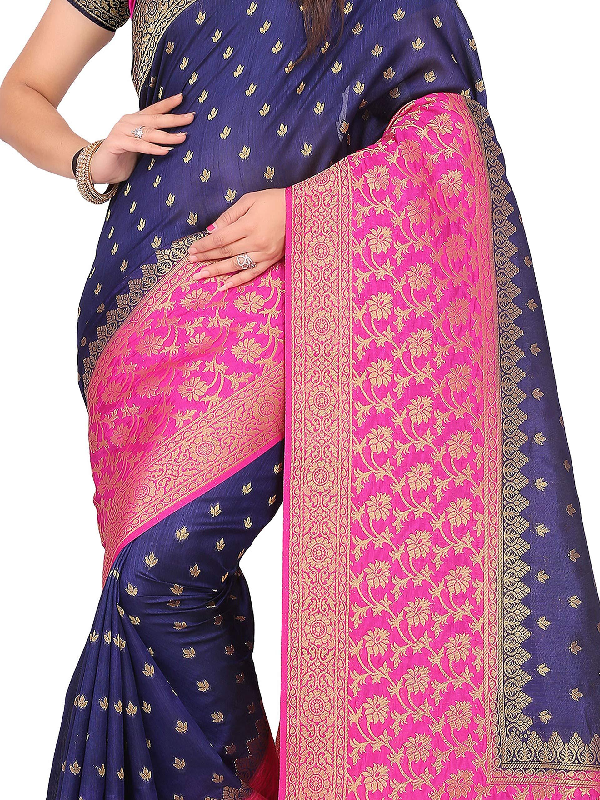 52b7c4bb47 arars kanjivaram kanchipuram silk pattu saree (263 RA NAVY BLUE ...