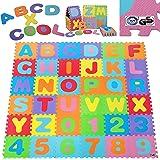 Deuba Tappeto Puzzle Bambini 1,92x1,92m | Nuovo Modello 6/2019 | Gomma Eva Resistente Isolante Lavabile Gioco per…