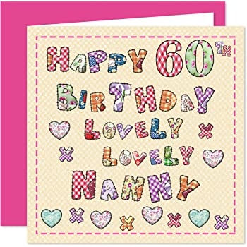 Nanny 60th Happy Birthday Card
