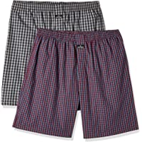 Jockey Men's Cotton Boxers (Pack of 2) Assorted(Colors & Print May Vary)(color may vary)