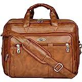 Zipline Office Laptop Vegan Leather Executive Formal 15.6 inch Laptop & MacBook Briefcase Messenger/Office/Travel/Business Ba