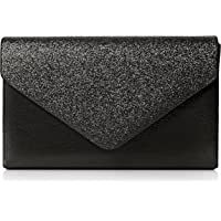 SwankySwans - Kelly Glitter Envelope Clutch Bag Party Prom Bag, Sacchetto Donna