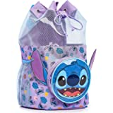 Disney Lilo and Stitch Swimming Backpack, Large Drawstring Bags for Kids with Cute 3D Stitch Front Pocket, Swim…