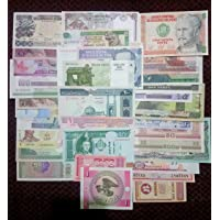 Arunrajsofia 15 Different World wide Foreign Currency Bank Notes Rare Collection (Brown)