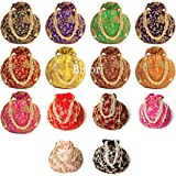 BINORI FASHIONS Rajasthani Style Royal Clutch Silk Batwa Bag Combo Wristlets Ethnic Potli Combo For Women's Zari Work Potli C