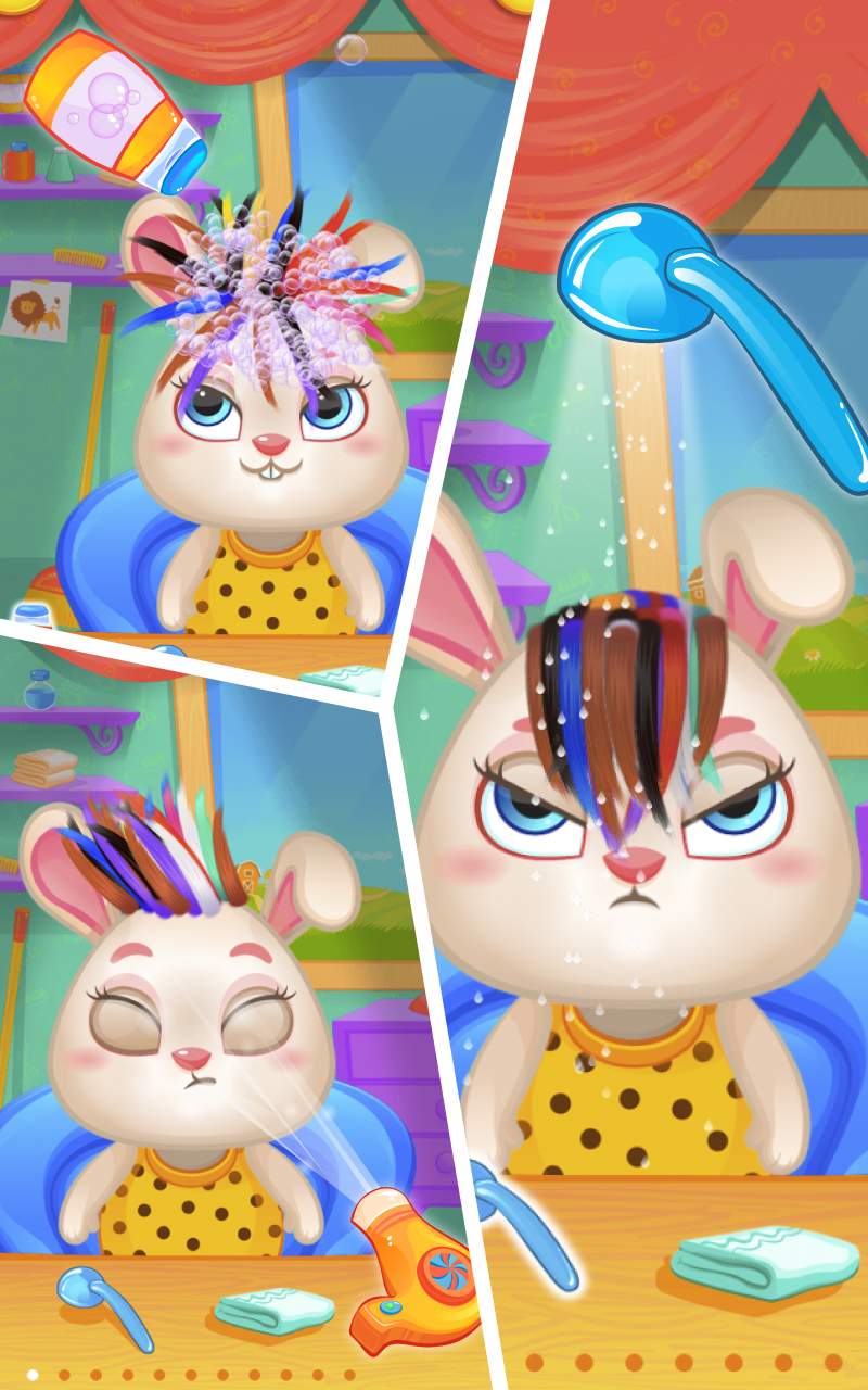 Pets hair salon makeover game for kids appstore for android - Beauty salon makeover games ...