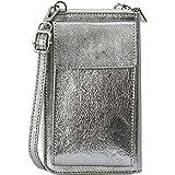 SH Leder Damen Handytasche Umhängetasche Geldbörse Multifunktion Beutel aus Echtleder Verstellbar Schultergurt Handy bis 6,5