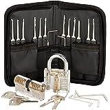 Premium Lockpicking Set Lock Pick Tools 25-delige Kit 2 Duidelijke Sloten In 2 Moeilijkheden Voor Oefeningstrainingen En Prof