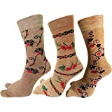 RC. ROYAL CLASS Women's Warm Terry Wool Thick Thumb Socks (Beige, Free Size) Pack of 3 Pairs