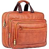 The Clownfish Executive 15.6-Inch Laptop Bag (Cinnamon)