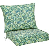 AmazonBasics Deep Seat Patio Seat and Back Cushion (Blue)