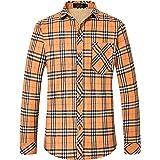 SSLR Camisa de franela de forro polar para hombre con botones y ajuste regular para hombre