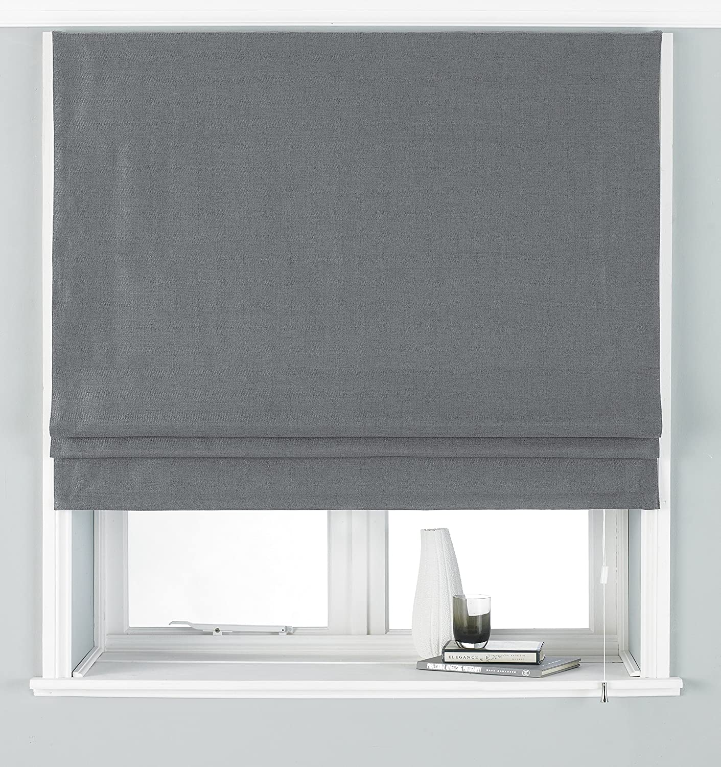 Riva Atlantic Ochre Plain Roman Blinds 5 Sizes