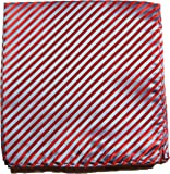 Paul Malone de carré de poche mouchoir 100% soie Rouge rayé