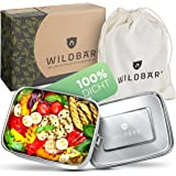 WILDBÄR® - Premium Edelstahl Brotdose mit Fächern - extra auslaufsichere und stabile Lunchbox [800ml] - BPA-frei - für Dein g