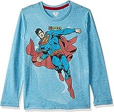 Superman Kids Boys Full Sleeve Blue Snow Color T-Shirt