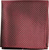 Paul Malone de carré de poche mouchoir 100% soie Rouge carreaux