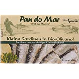 Pan do Mar Kleine Sardinen in Bio Olivenöl, 5er Pack (5 x 120 g)