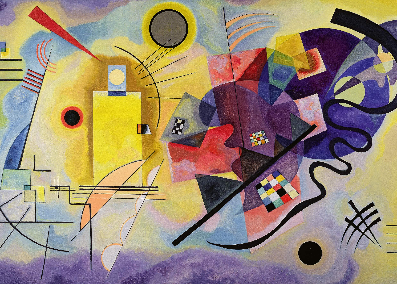 Ravensburger-4005556148486-Puzzle-1000-Teile-Art-Collection-Gelb-Rot-Blau-Vassily-Kandinsky-Erwachsene-Wert-Malerei