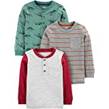 Simple Joys by Carter's Paquete de 3 Camisas de Manga Larga Niños, Pack de 3
