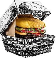 Rainbow Socks - Femmes Hommes Chaussettes Hamburger - 2 Paires