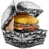 Rainbow Socks - Donna Uomo Divertenti Hamburger Calze - 2 Paia