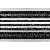 Astra Elegant Mat Deurmat, 60 x 40 x 1 cm, Aluminium Frame, Robuuste Mat, Vuilvangmat, Antraciet