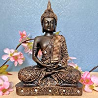 Global Grabbers Polyresin Idol Statue Showpiece for Home Decor Decoration and Gifting, Antique Copper Matte, 24CM…