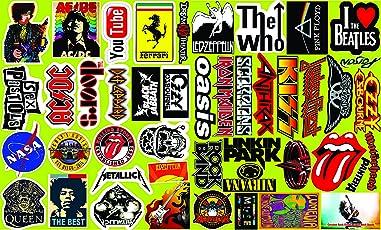 Elton 3M Vinyl Sticker Pack [40-Pcs], Waterproof Random Sticker Pack for Laptop, Cars, Motorcycle, PS4, Xbox One(Multicolor)