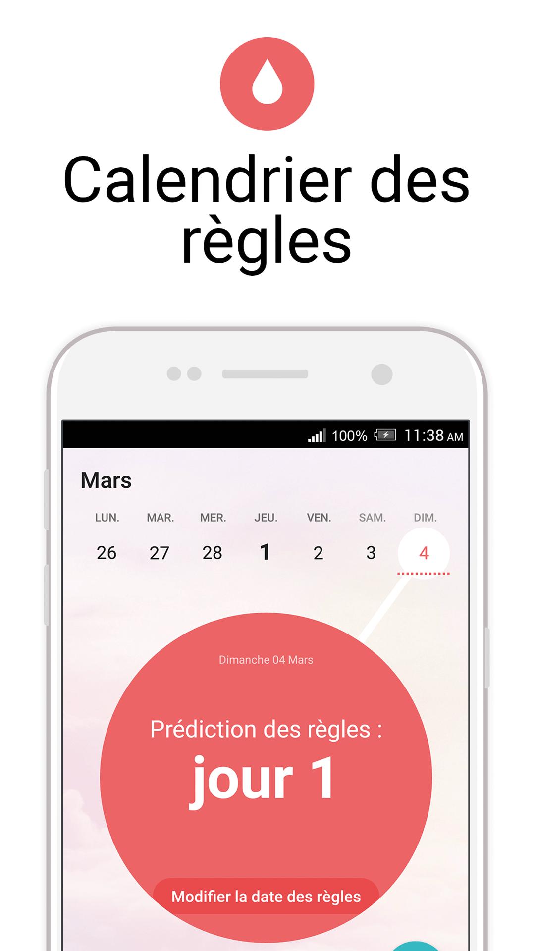 Calendrier Pour Les Regles.Flo Calendrier Des Regles Periode D Ovulation Amazon Fr