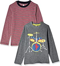 Cloth Theory Boys' Regular Fit T-Shirt (Pack of 2)